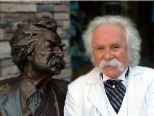 Jim Post as Mark Twain