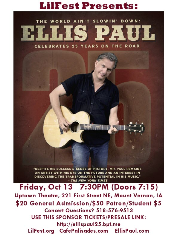 Ellis Paul Friday Oct 13 2017