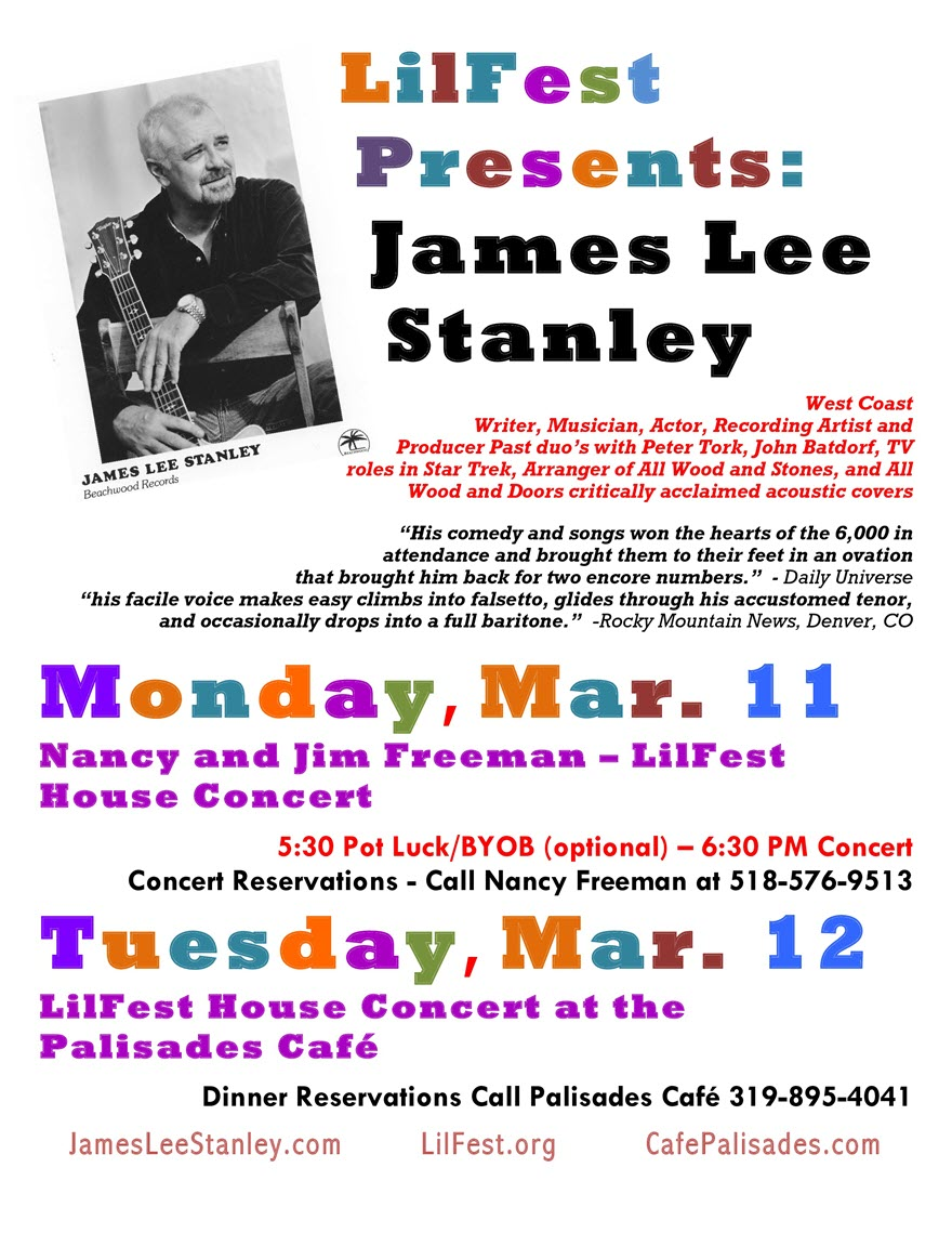 James Lee Stanley Lilfest March 2019